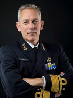 Vice-Admiral Ben Bekkering, Military Representative for the Netherlands