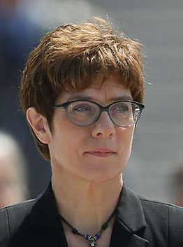 Annegret Kramp Karrenbauer, Minister of Defence of Germany