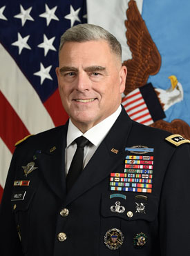 Mark A. Milley, US Chairman, Joint Chiefs of Staff