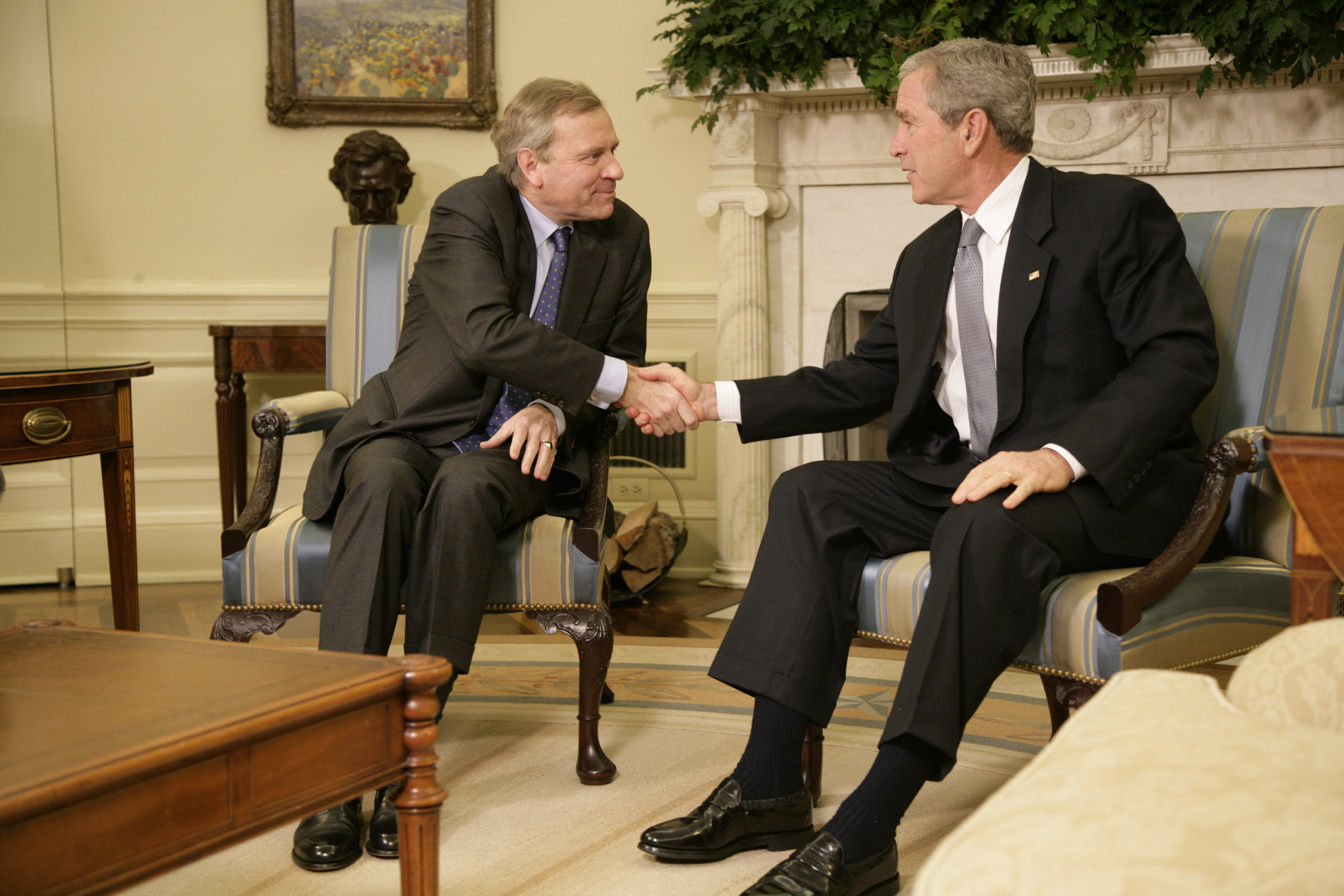 bush oval office. President George W. Bush Oval Office A