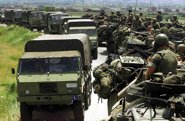 Image result for yugoslav troops leave kosovo after nato's campaign of airstrikes